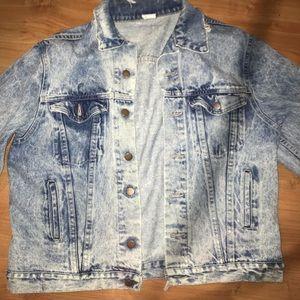 80s Acid Wash Jean Jacket, Worn